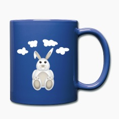 Bunny with clouds Mugs & Drinkware