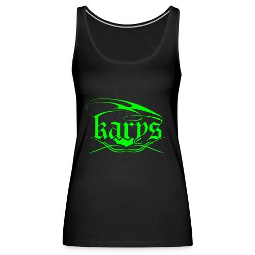 Karys Girls Neon Green Black Tank  - Frauen Premium Tank Top