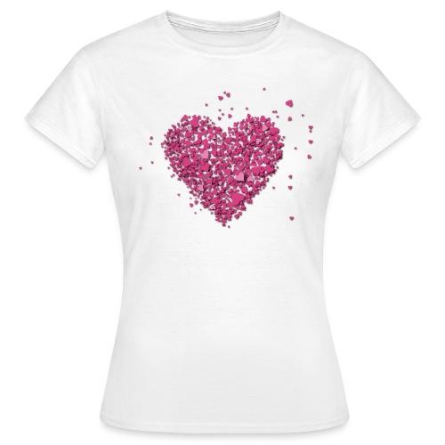 T-shirt coeurs - T-shirt Femme