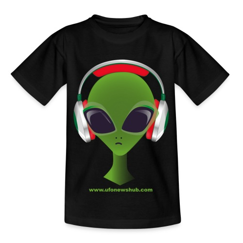 UFO News Hub Alien Head - Childrens T-Shirt - Teenage T-Shirt