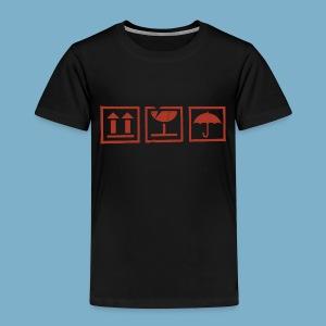 Fragile zerbrechlich Zeichen - Kinder Premium T-Shirt