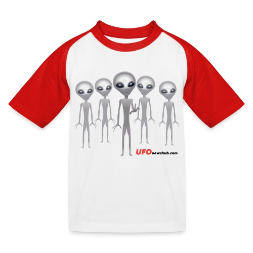 Five Grey Aliens Childrens T-Shirt - Kids' Baseball T-Shirt