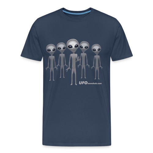 Five Grey Aliens Mens T-Shirt - Men's Premium T-Shirt