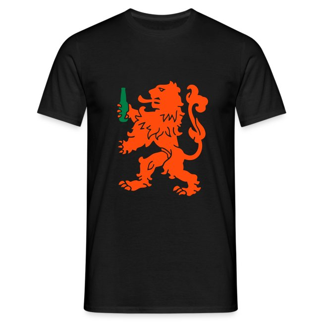 T-shirt met Leeuw en een koud biertje!