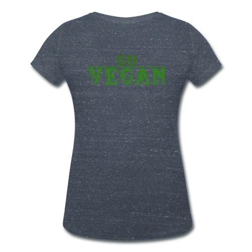 Go vegan Shirt Damen - Frauen Bio-T-Shirt mit V-Ausschnitt von Stanley & Stella