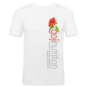 Goji Nutrition Logo Men's Close-fit Gym T-Shirt - Men's Slim Fit T-Shirt