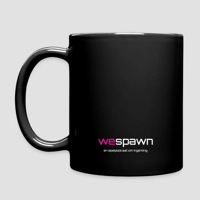 WeSpawn-Mugg Svart och Dubbelsidig