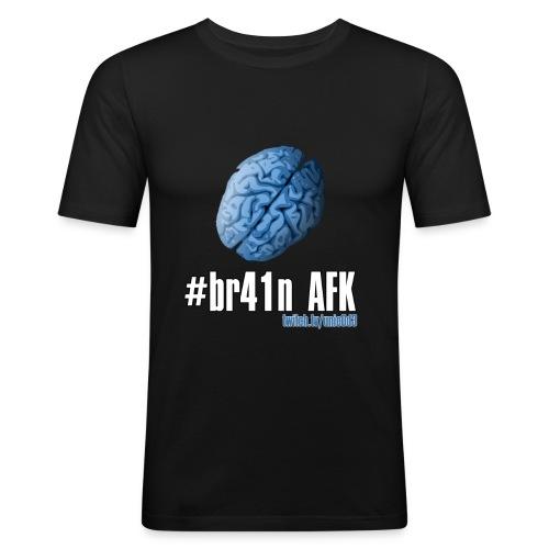 #brainAFK Slim Fit T-Shirt - Men's Slim Fit T-Shirt