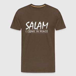 SALAM - I COME IN PEACE - Herre premium T-shirt