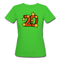 20. Geburtstag Frauen Bio T-Shirt - Zahl 20 mit Sternchen
