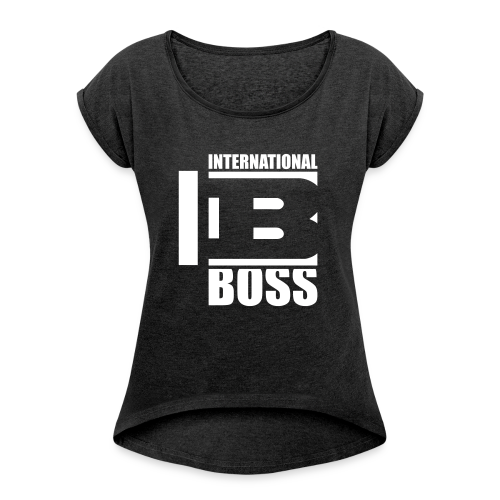 International Boss - Women's T-shirt with rolled up sleeves