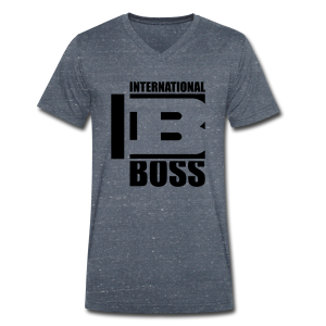 International Boss - Men's Organic V-Neck T-Shirt by Stanley & Stella