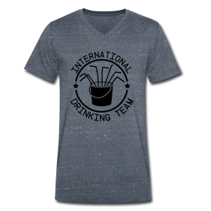 International Drinking Team - Men's Organic V-Neck T-Shirt by Stanley & Stella