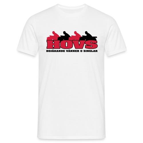 T-shirt med rött HOVS-emblem för fegisar - T-shirt herr