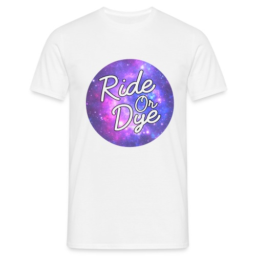 Ride Or Dye White Spaced Out Tee - Men's T-Shirt