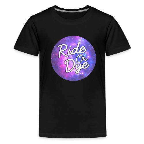 Ride Or Dye Black Spaced Out Tee - Teenage Premium T-Shirt