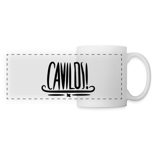 Cavilos Tasse | Weiß/Schwarz - Panoramatasse