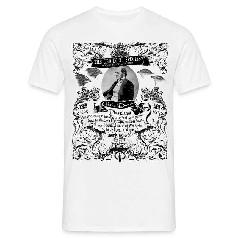 Charles Darwin Origin of Species - Men's T-Shirt