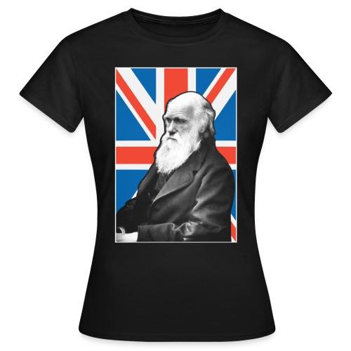 Charles Darwin Union Jack t shirt  - Women's T-Shirt