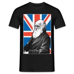 Charles Darwin Union Jack t shirt  - Men's T-Shirt