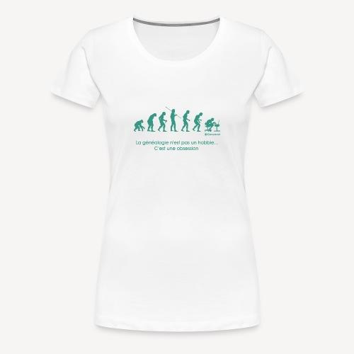 T-shirt qualité supérieure femme - Evolution - T-shirt Premium Femme