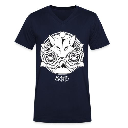 AKIMO Structure Line - Between V-Neck - Männer Bio-T-Shirt mit V-Ausschnitt von Stanley & Stella