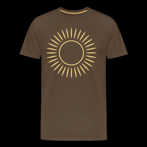 Sonne mit Strahlen Shirt - Männer Premium T-Shirt