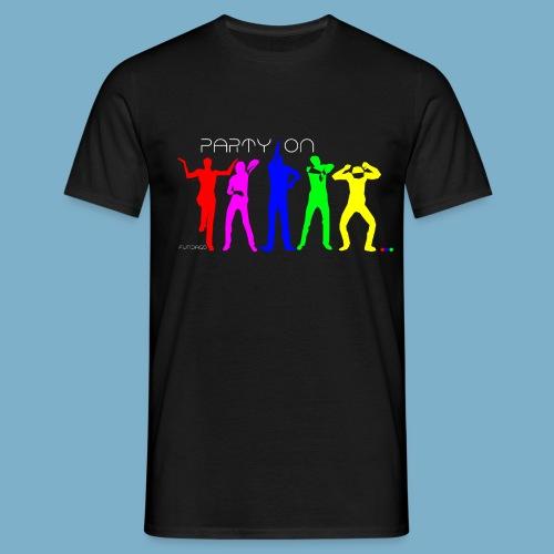 Dance Party Motiv - Männer T-Shirt