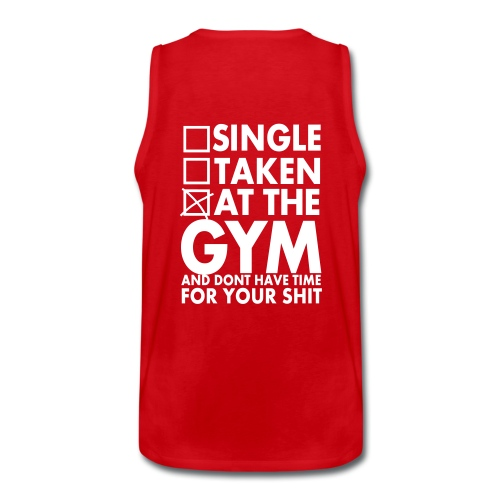 Karys Gym Wear Clear White Red Tank - Männer Premium Tank Top
