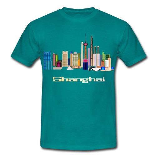 Skyline Shanghai - Männer T-Shirt