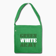 Green And White Army shoulder bag