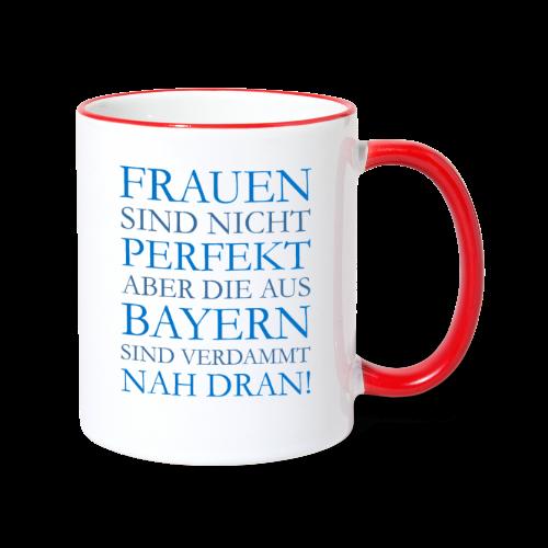 Frauen aus Bayern (Blau) Tasse - Tasse zweifarbig
