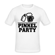 T-Shirts ~ Männer Slim Fit T-Shirt ~ Pinkel Party T-Shirts