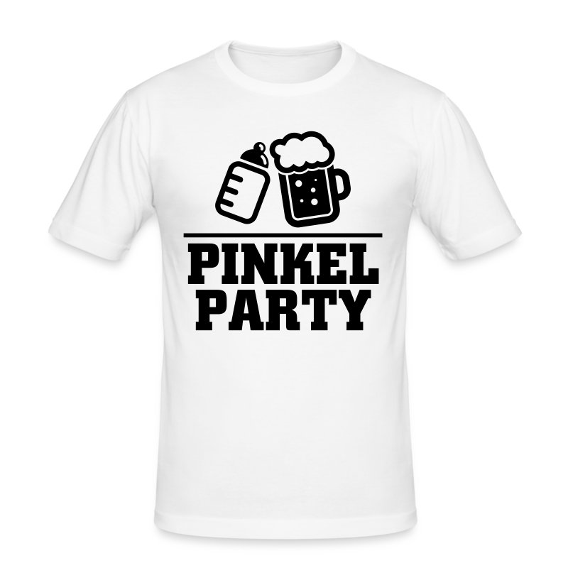 Pinkel Party T-Shirts - Männer Slim Fit T-Shirt