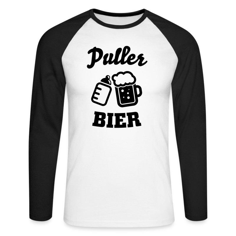 Puller Bier Langarmshirts - Männer Baseballshirt langarm