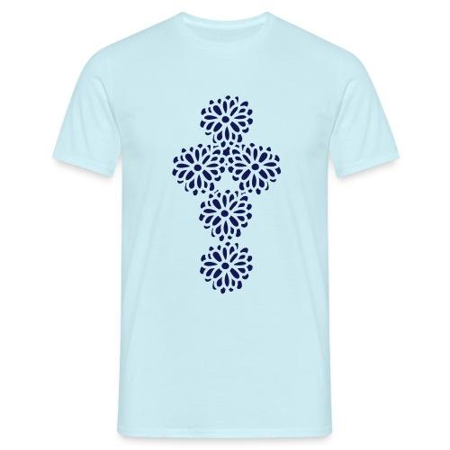 Blumenkreuz - Männer T-Shirt