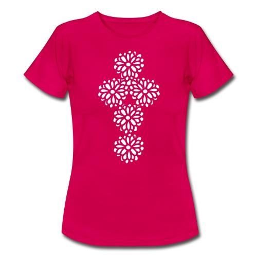 Blumenkreuz - Frauen T-Shirt