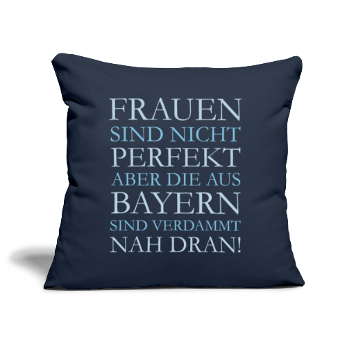 Frauen aus Bayern (Hellblau) Kissenbezug - Sofakissenbezug 44 x 44 cm