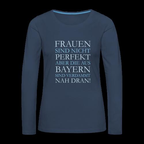 Frauen aus Bayern (Hellblau) Langarmshirt - Frauen Premium Langarmshirt