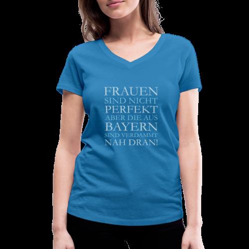 Frauen aus Bayern (Hellblau) V T-Shirt - Frauen Bio-T-Shirt mit V-Ausschnitt von Stanley & Stella