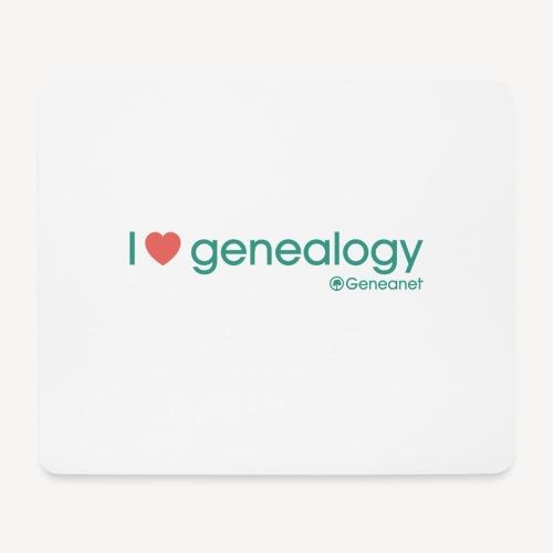 Tapis de souris - I love genealogy - Tapis de souris (format paysage)