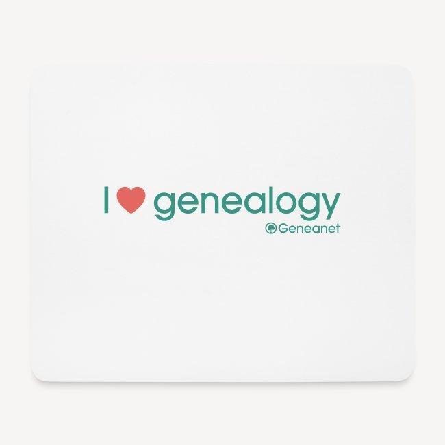 Tapis de souris - I love genealogy