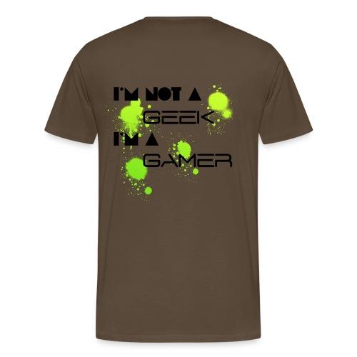 Tee shirt premium Homme pas Geek, mais gamer ! - T-shirt Premium Homme