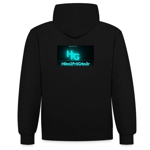 Homie - Kontrast-Hoodie