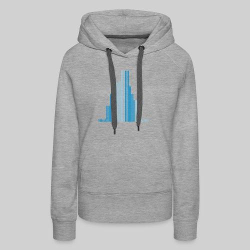 City-Wolkenkratzer-Frauen Pullover - Frauen Premium Hoodie