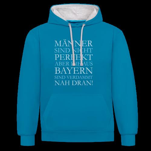Männer aus Bayern (Hellblau) Kontrast Hoodie - Kontrast-Hoodie