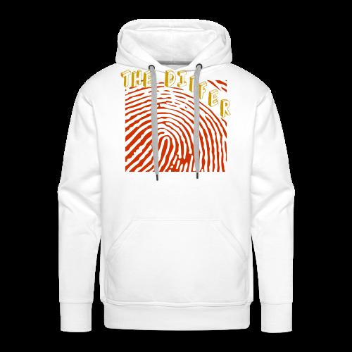 FINGER PRINT HOODIE - WHITE - Mannen Premium hoodie
