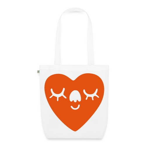 SMILING HEART SHOPPER - EarthPositive Tote Bag