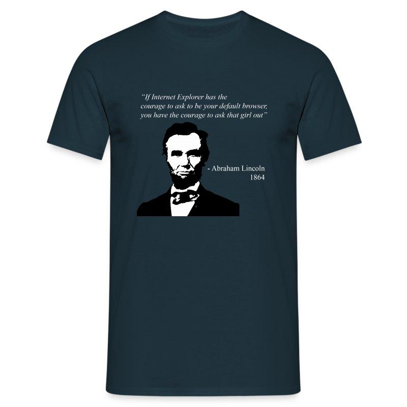 Abraham Lincoln Quote - Men's T-Shirt