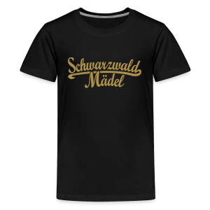 Schwarzwald Mädel Classic (Goldglitzer) Teenager T-Shirt - Teenager Premium T-Shirt
